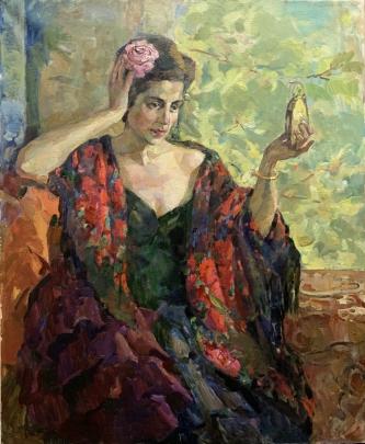 «Женщина с зеркальцем» 1993 - Титаренко Дарья Анатольевна