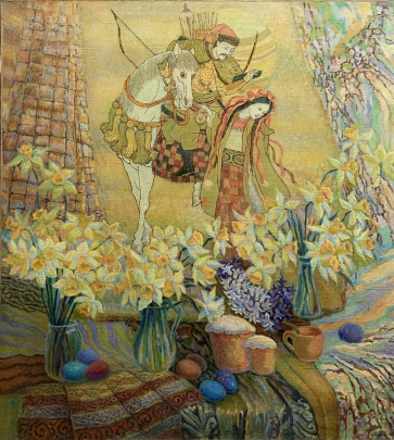 «Пасхальный натюрморт. Великдень» 1994 - Титаренко Дарья Анатольевна