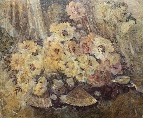 «Восточный натюрморт с веерами» 1990 е  - Титаренко Дарья Анатольевна