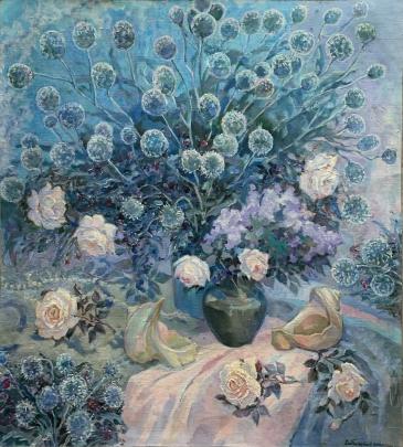 Натюрморт «Смарагдовый сон» 2006 - Титаренко Эльвира Ивановна