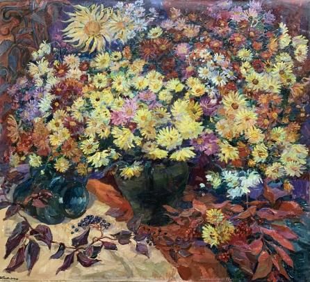 «Осенние листья и Астры» 1994 - Титаренко Мария Анатольевна