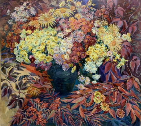 Натюрморт «Пламя Осени» 1996 - Титаренко Дарья Анатольевна