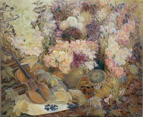 Натюрморт «Осенняя мелодия» 2000 - Титаренко Дарья Анатольевна