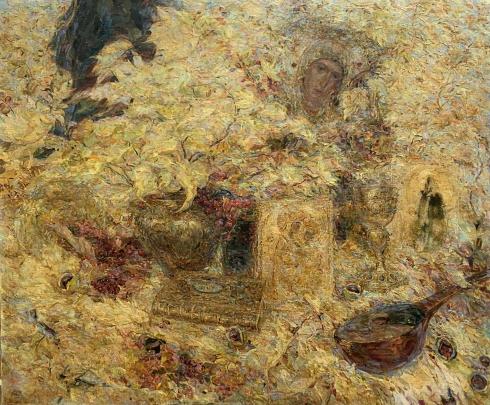 Натюрморт «Золотые лучи Веры и Надежды» 1990 е - Титаренко Мария Анатольевна