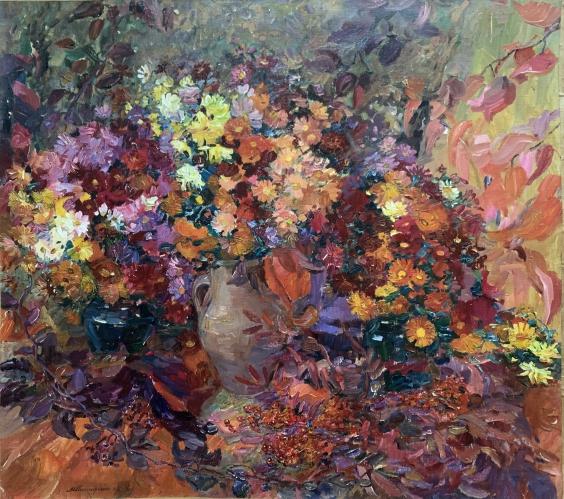Натюрморт «Золотая Осень» 1996 - Титаренко Мария Анатольевна