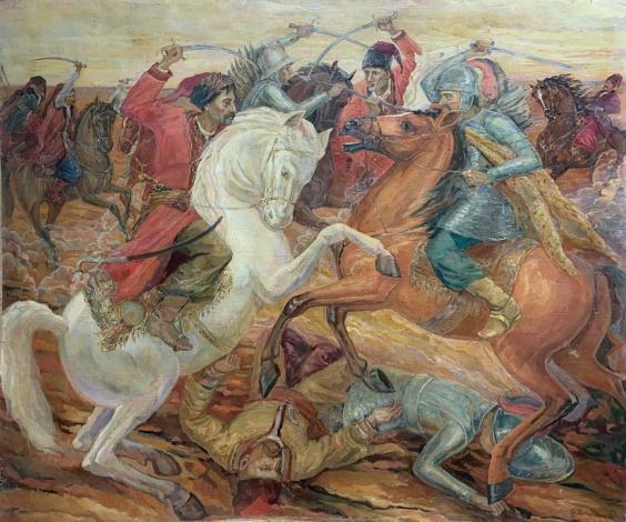 «Бой казаков с ляхами» 1998 - Титаренко Дарья Анатольевна