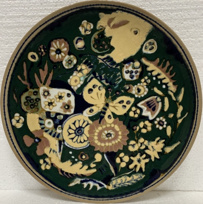 Декоративная тарелка «Бабочка на цветах»» ЛКСФ 1970 е - Декоративная тарелка «Бабочка на цветах»» ЛКСФ