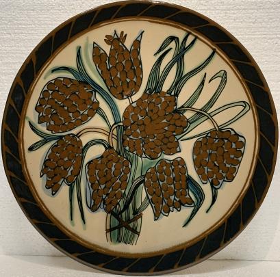 Декоративная тарелка «Колокольчики» ЛКСФ 1970 е - Декоративная тарелка «Колокольчики» ЛКСФ