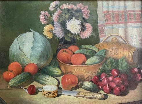 Натюрморт «Цветы и овощи» 1930-1950 - Натюрморт «Цветы и овощи»