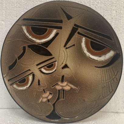 Декоративная тарелка «Мать и дитя» ЛКСФ 1970 - Декоративная тарелка «Мать и дитя» ЛКСФ