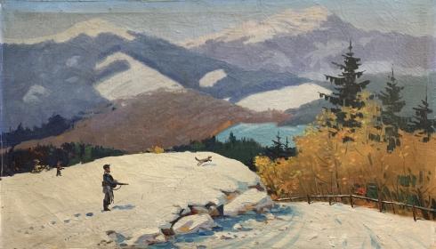 «Зимой в Карпатах» 1950-60 е - Сапатюк Михаил Михайлович