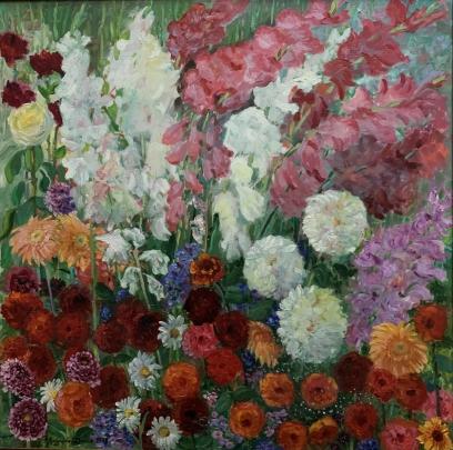 Натюрморт «Юбилей» 1988 - Мандрикова — Дончик Надежда Алексеевна