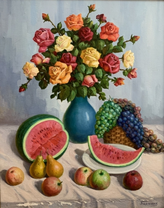 «Цветы и фрукты» 1970 е - Бортник Игорь Петрович