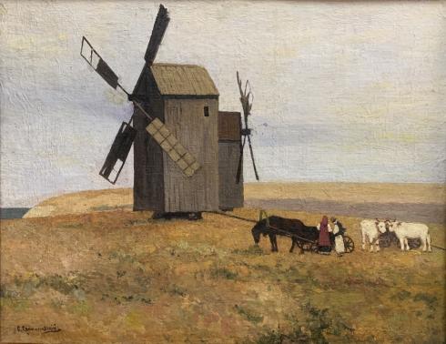 Пейзаж «Мельницы» 1880 е гг. - Светославский, Сергей Иванович