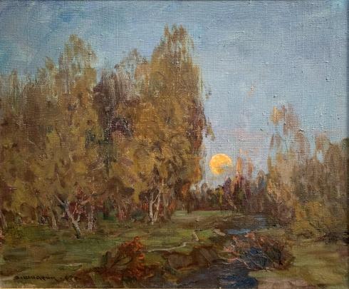 Пейзаж «Закат» 1985 - Шадрин Александр Петрович