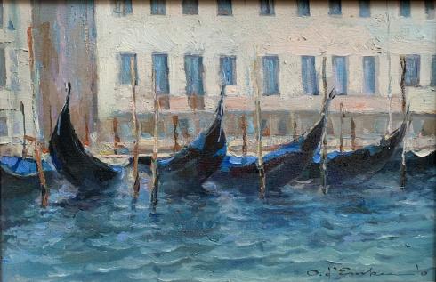 Пейзаж «Лодки» 2010 - Демко Олег Алексеевич