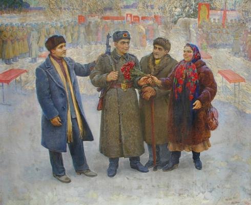 «В день присяги, Кишинев» 1985 - Бондаренко Светлана Владимировна