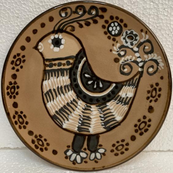 Декоративная тарелка «Птичка» ЛКСФ 1970 е - Декоративная тарелка «Птичка» ЛКСФ