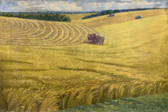 «Уборка на полях» 1977 - Дяченко В.